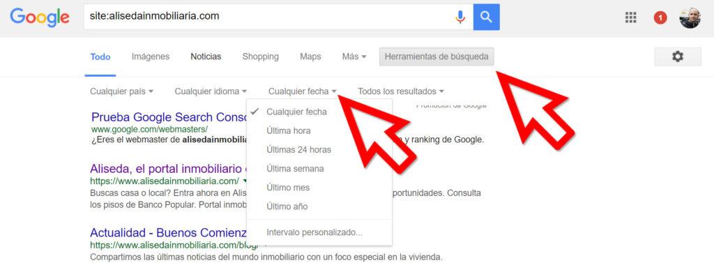 herramientas de búsqueda de google