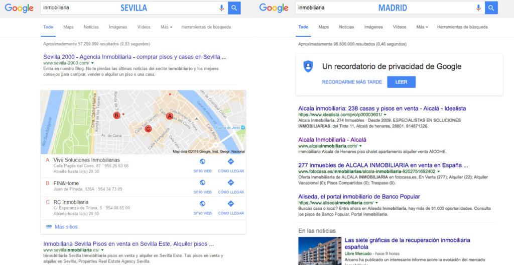 Inmobiliaria Madrid Sevilla