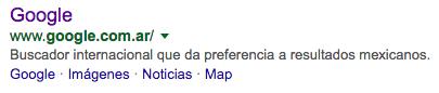 resultados google argentina