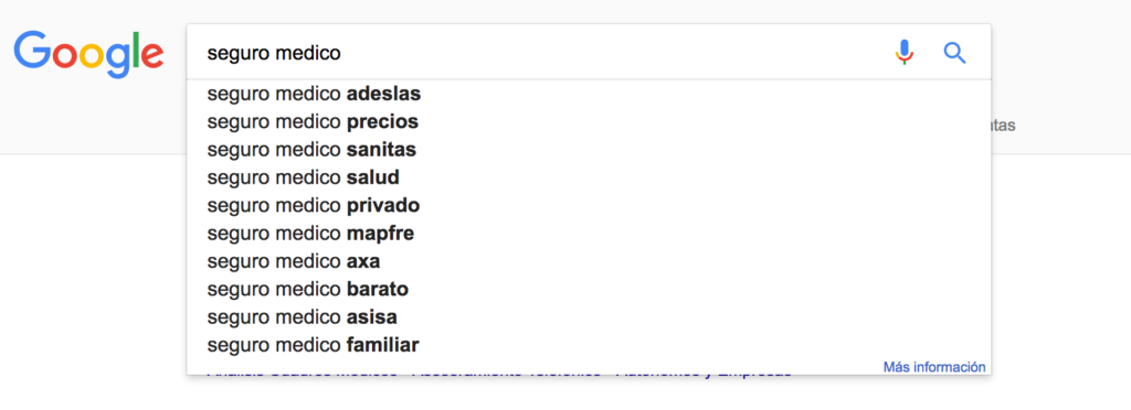 seguro medico Google