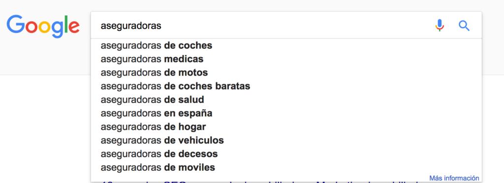 busqueda keyword google