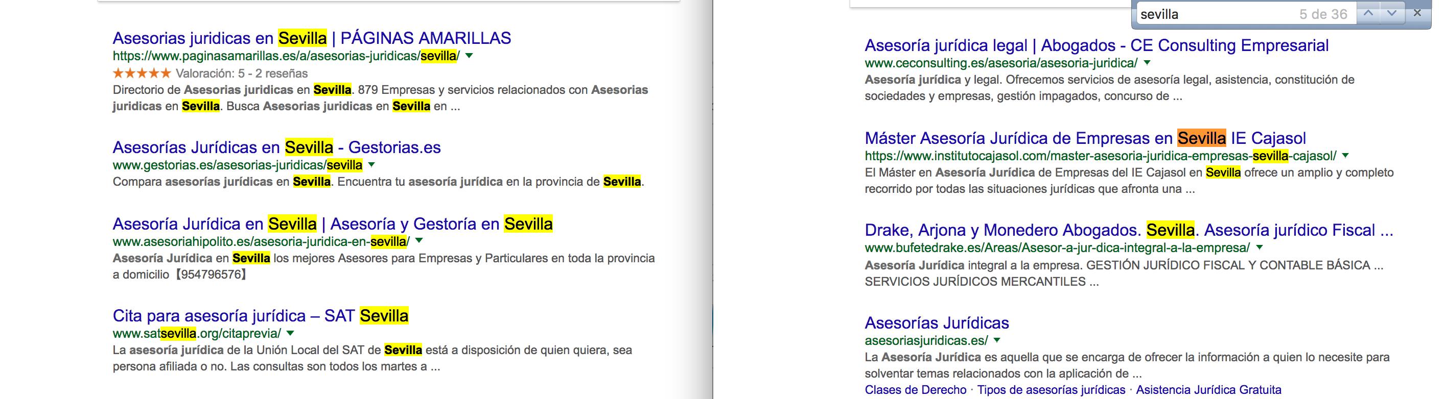 Google asesoría jurídica