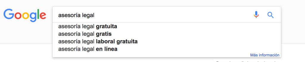 Google Asesoría Legal