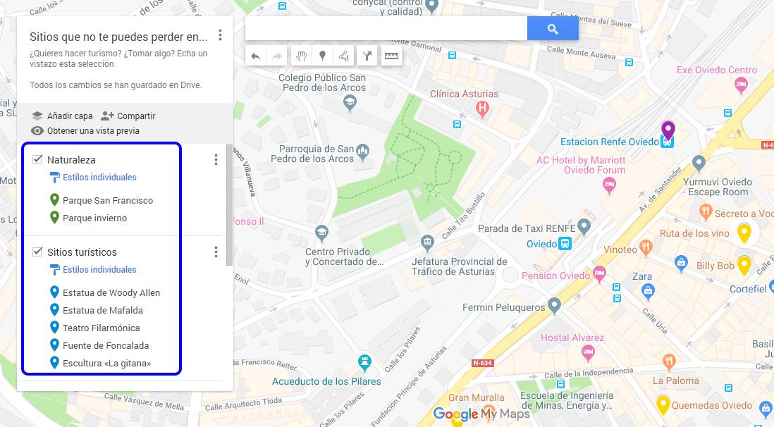 ¿Cómo hacer mapas personalizados de Google Maps? - Crear capas