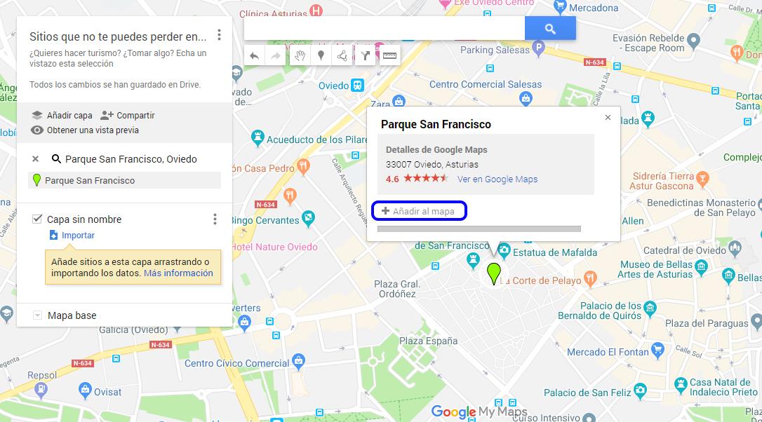 ¿Cómo hacer mapas personalizados de Google Maps? - añadir sitio