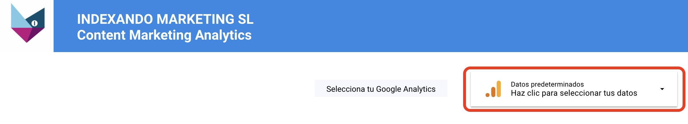 conectar datos con Google Analytics