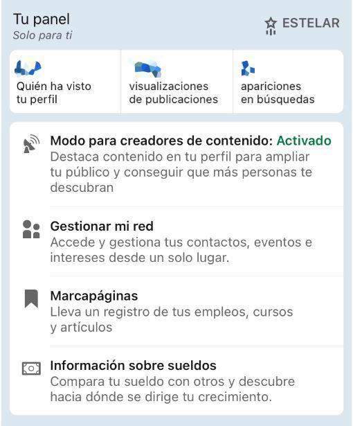 activar modo creador de contenidos mobile 2